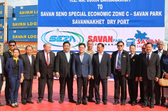The Vice Prime Minister of Thailand Visited Savan Logistics Dry Port
