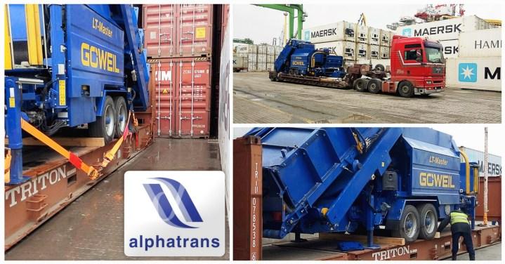Alphatrans arranged the delivery of LT Master Press-Wrapper
