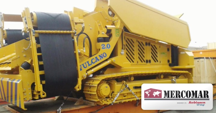 Mercomar Handled a 35mt Trencher Machine From Geneva, Switzerland to Antofagasta, Chile
