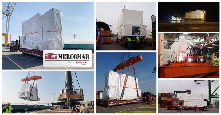 Mercomar Moved a GE Generator ex Antwerp to Argentina