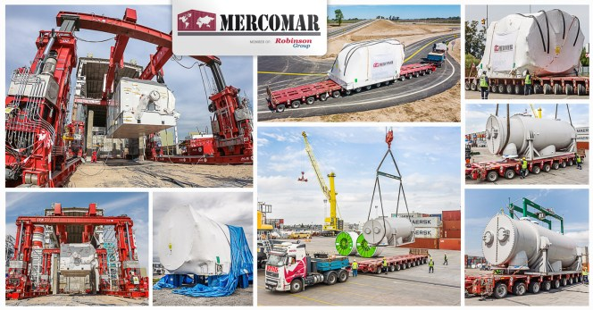 Mercomar Performed Inland Transport and Mounting of a Turbine, Generator and Condenser for  the Central Cogeneracion Project