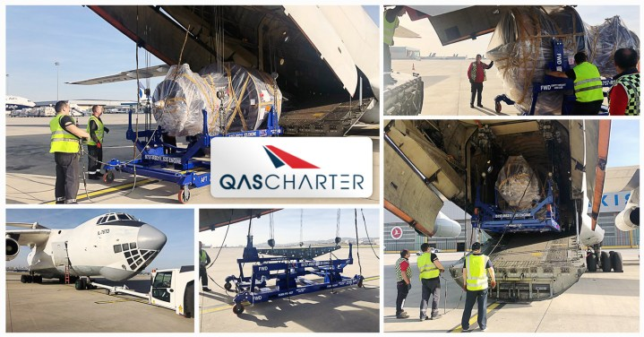 QAS-Chartered-an-IL-76-for-the-Transport-of-AOG-AC-Engine-and-Empty-Stand-to-Russia