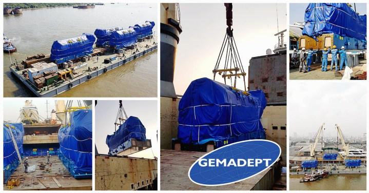 Gemadept Handled 12 Wartsila Engines Weighing 300 mt Each