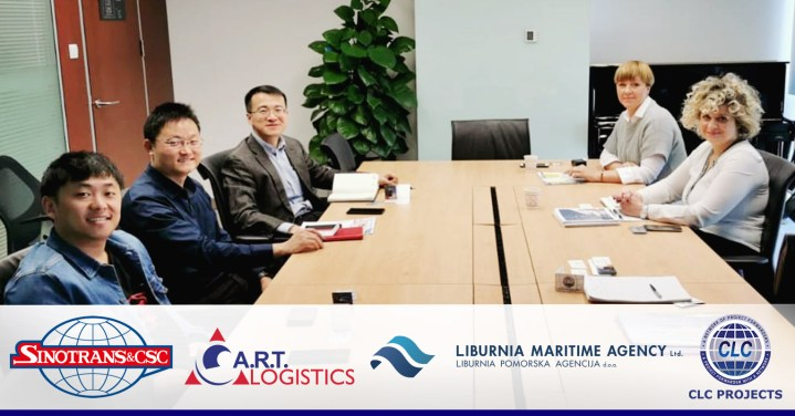 Sinotrans Project Logistics Beijing, A.R.T. Logistics, Liburnia Maritime Agency Ltd. and CLC Projects meeting in Beijing