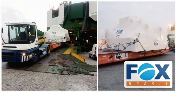 Fox Brasil Project Logistics Coordinated the Door-to-Port Logistics of an OOG Turbine + Accessories from Brazil to North America's Green Zone
