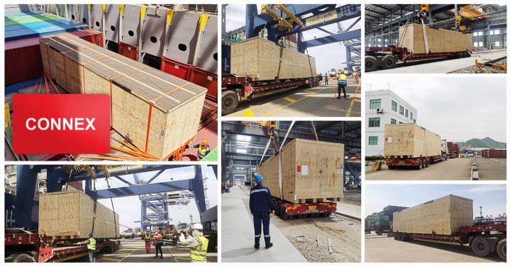 Ningbo Connexion Unloaded a 65 tons of Machinery from Container Ship to Transport Receiver