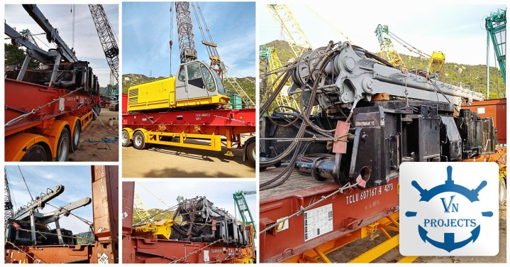 VN Projects Shipped a 250 ton Dismantled Crawler Crane from Hong Kong to Ho Chi Minh