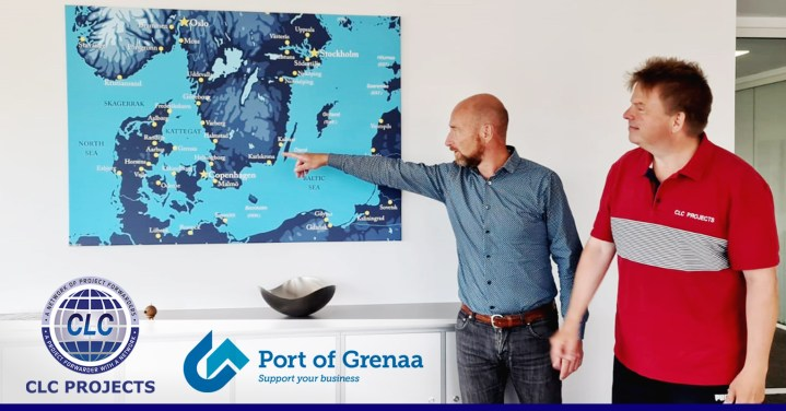 CLC Projects Chairman meeting CEO of Port of Grenaa Denmark