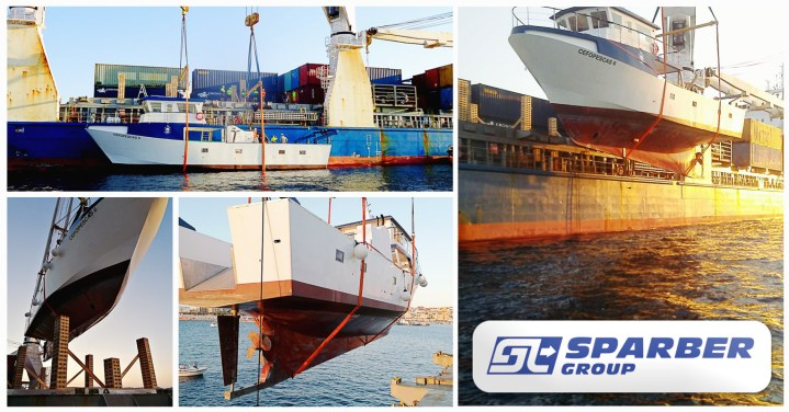 Sparber Group Shipped a Fishing Boat from Palamós, Spain to Luanda, Angola