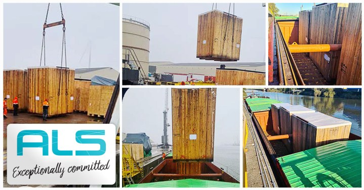 ALS Organised the Transportation of 3 Oversized Wooden Cases by Barge via European Inland Waterways from Germany to Belgium and Onward to Kazakhstan