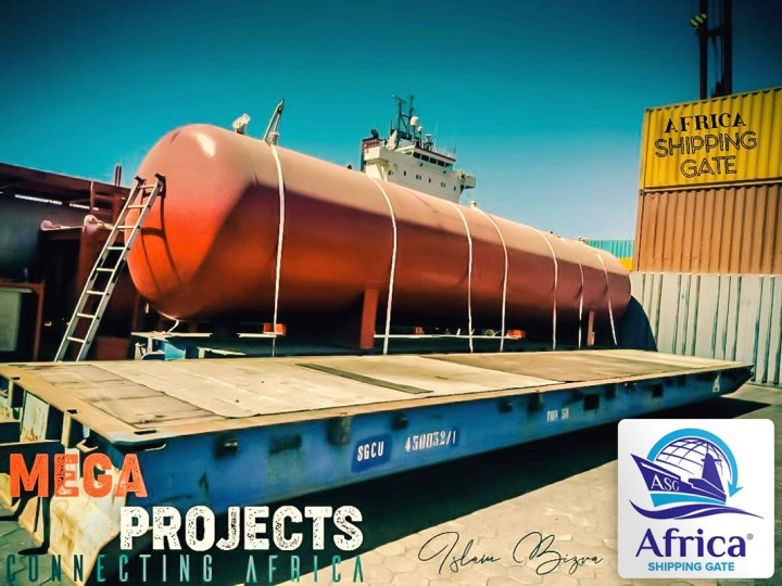 Africa Shipping Gate Handling Project Cargo by RoRo
