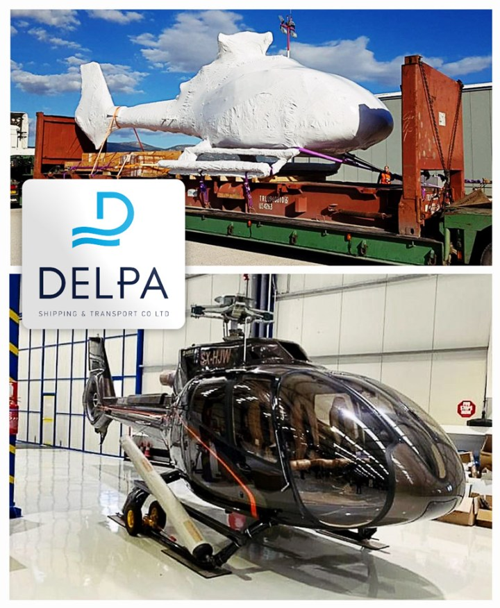 Delpa Shipping Shipped a Helicopter via RORO at the End of 2020