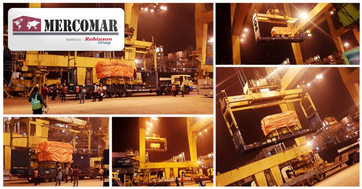 Mercomar Transported a Caterpillar Engine 3616 along with Spare Parts from Bangladesh to Argentina