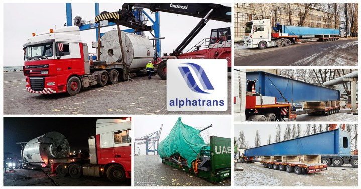 Alphatrans Competed the Delivery of Crane Beam by truck from Kiev, Ukraine to Wolvertem, Belgium and a Spray Dryer to Site