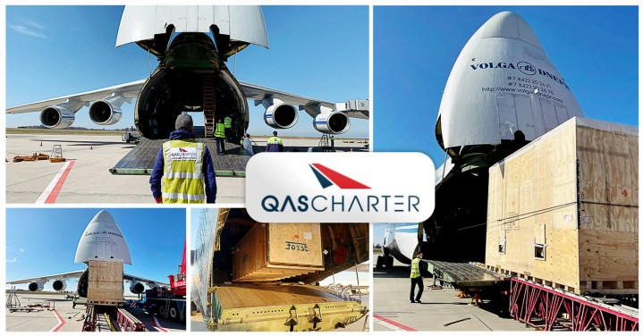 QAS Charter is Handling a Series of Flights Transporting Assembly Line Robots via AN-124 from Frankfurt to Latin America