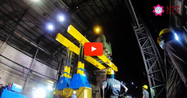 Video - Power Press Engineers (Part of NTC Group) used their 800T Hydraulic Gantry to Dismantle and Assemble a Massive 3500 MT Hydraulic Open Die Forging machine