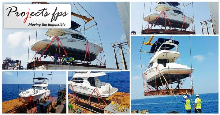 Projects FPS Moved a Yacht from Singapore to Male on 40'FB via Colombo