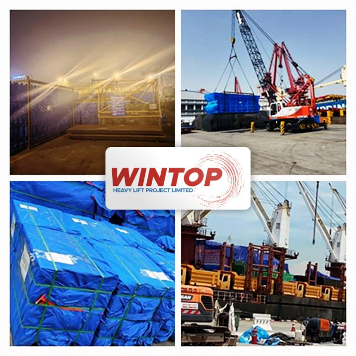 Wintop Heavy Lift Shipped 1587 cbm of Project Cargo from Shanghai to Indonesia via Singapore