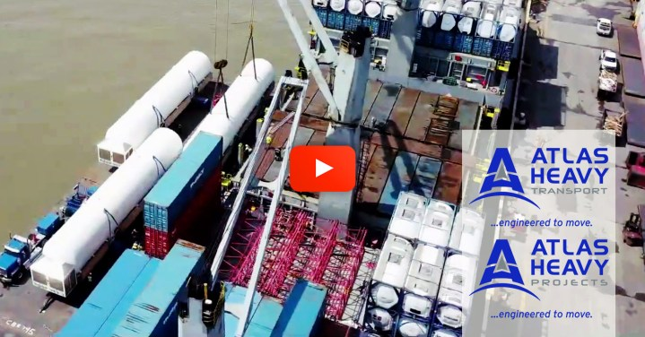 Video - Atalas Heavy Transport (Service Provider in the US) Moved 3 Storage Tanks