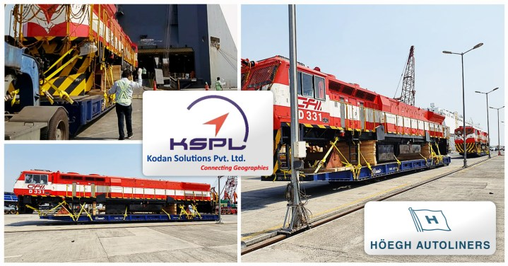 Kodan Solutions Shipped Locomotives from India to Africa via Höegh Autoliners