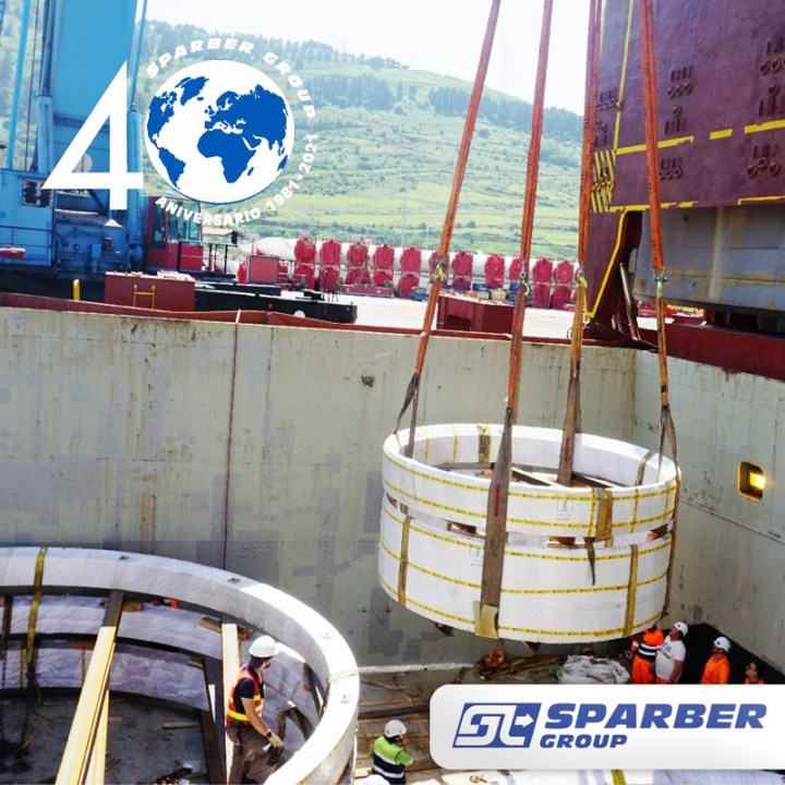 Sparber Group Transported 33 Pieces Totalling 1827 cbm and 773 tons from China to Spain
