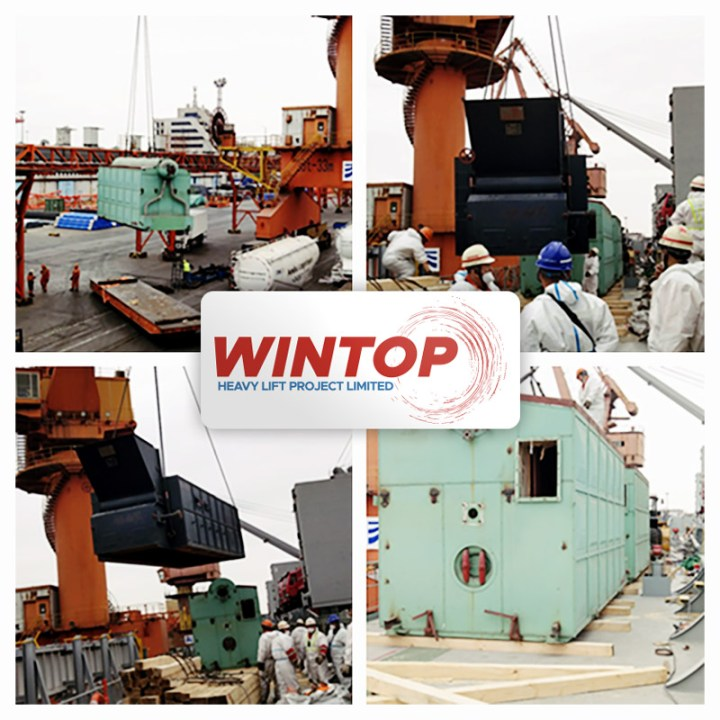 Wintop Heavy Lift Shipped Automatic Hydraulic Press Parts and Accessories from Shanghai to HCMC
