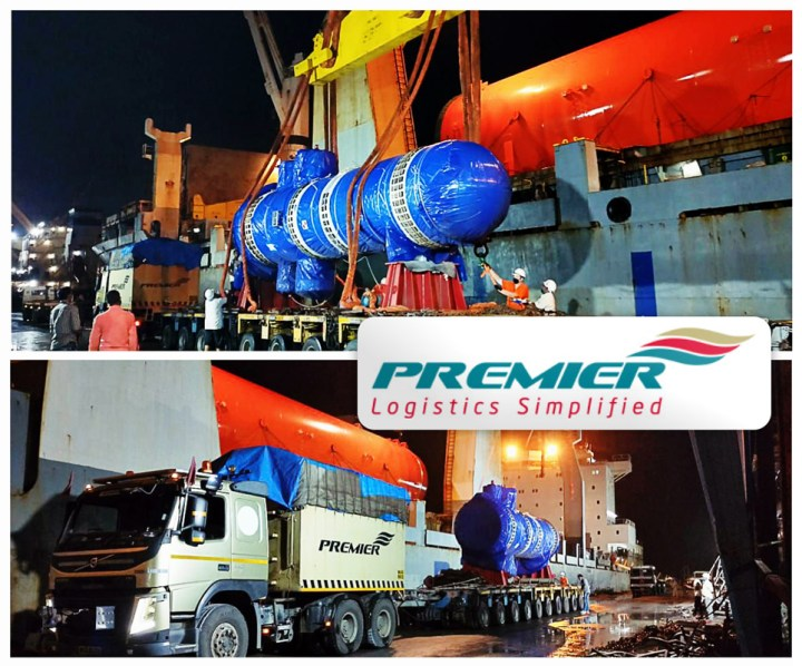 Premier Global Logistics Loaded a 105MT Reactor Feed Gas Exchanger for Malaysia on Door to Door Basis