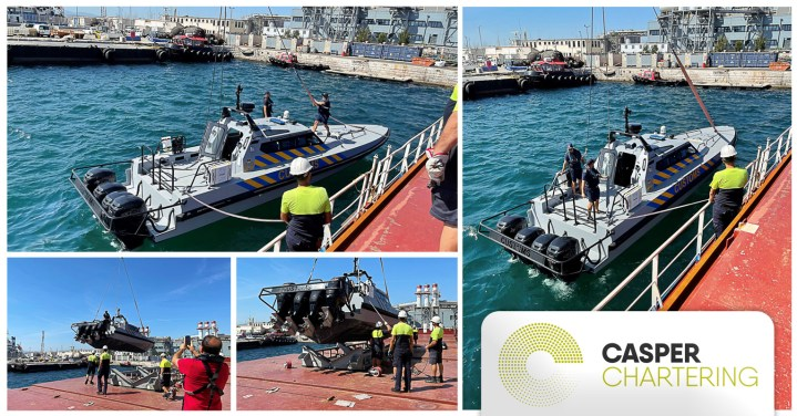 A Casper Chartering Vessel Delivered a Special Cargo to the Officers of Gibraltar enroute to Ireland