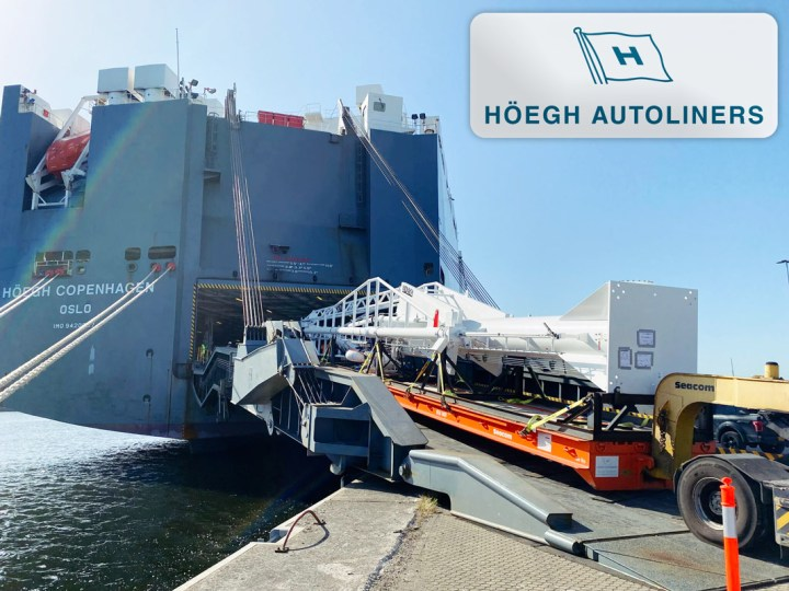 Höegh Autoliners Carried a 31m Long Breakbulk Unit from Amsterdam to Jebel Ali