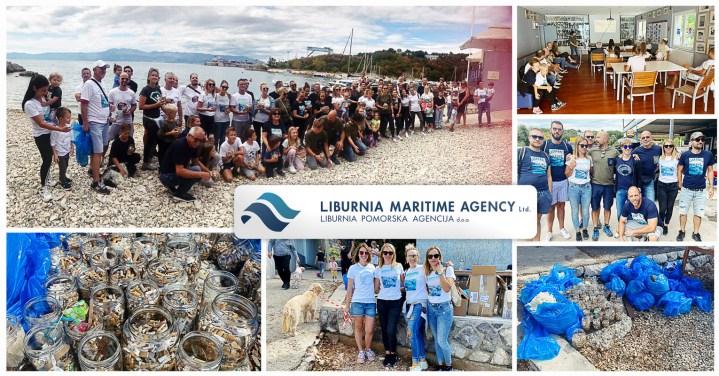 Liburnia Maritime Organized a Beach Cleanup via their BACKTOBLU Initiative