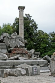 WWI left this monument destroyed
