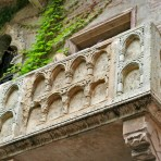 the famous balcony in Verona
