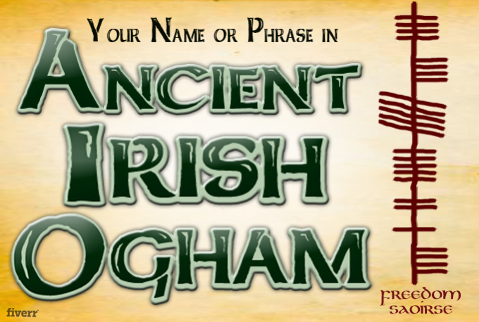 Use Ancient IRISH Symbols To Display Your Name Or M