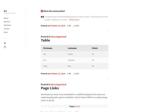 Sri WordPress Theme