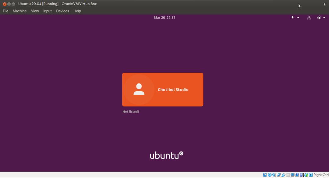 Tampilan daftar pengguna Ubuntu 20.04 (citra harian pasca UIF)