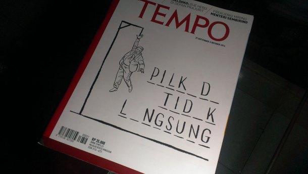 Cover Majalah Tempo, Pilkada Tidak Langsung