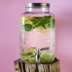 Erfrischendes Zitronen-Limetten-Minzwasser