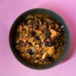 Indischer Wachtelbohnen Eintopf mit allerlei Gemüse
