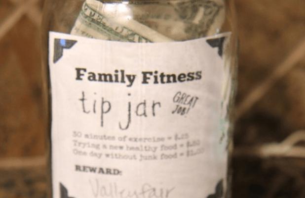 Fitness Motivation: TIP JAR