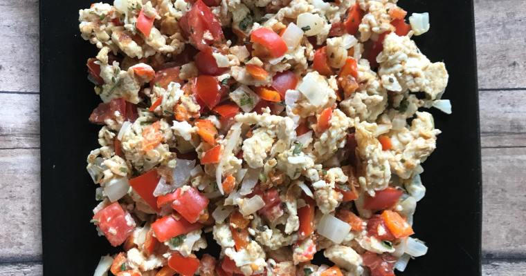 Egg White Veggie Scramble