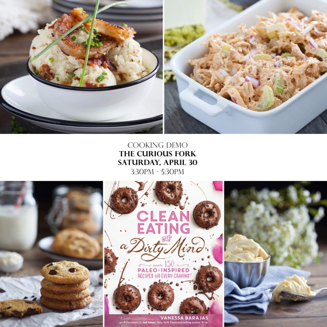Scoop clean eating with a dirty mind cooking demo and book signing click here for more info forumfinder Choice Image