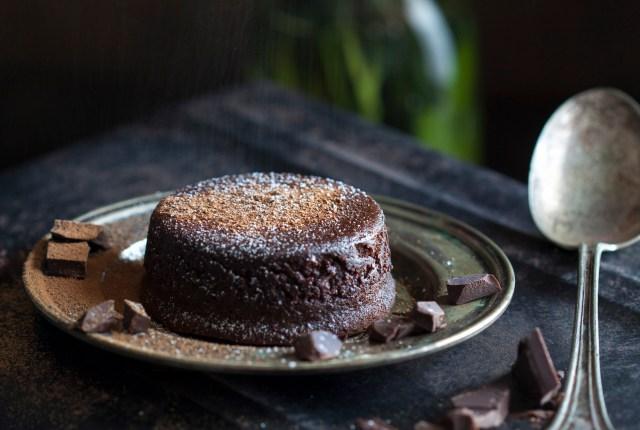 Paleo Molten Chocolate Lava Cake