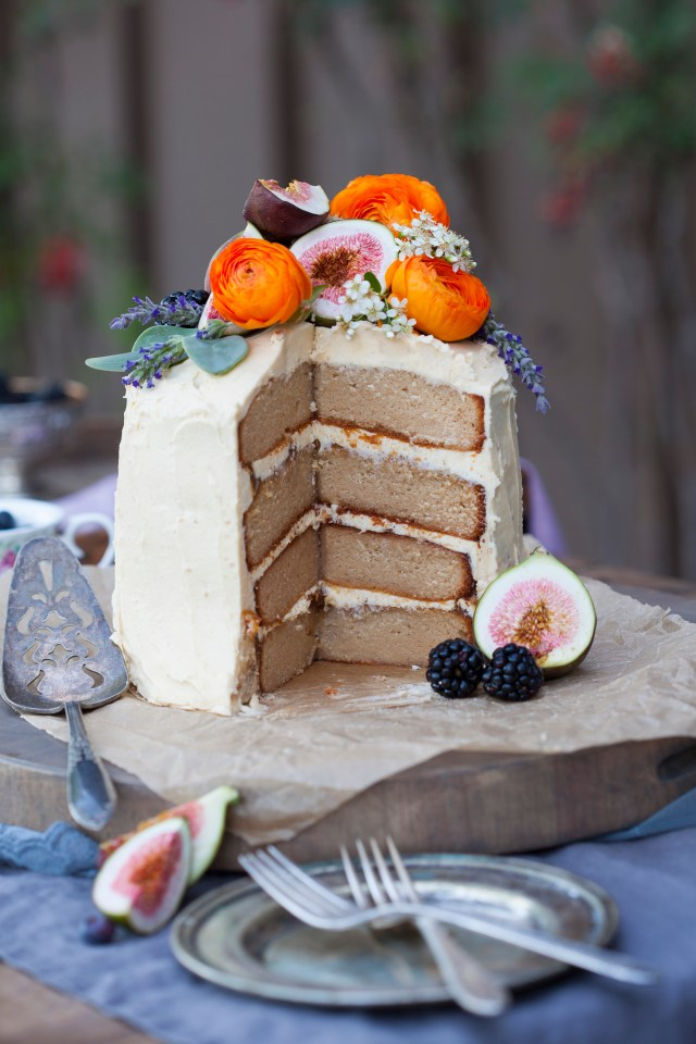 Caramel Maple Fig Cake
