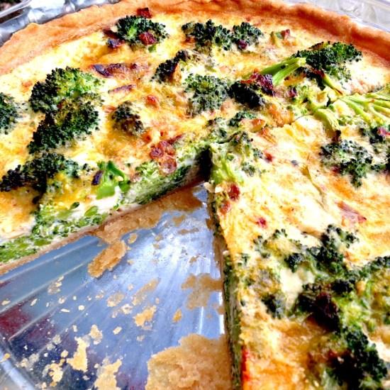 Broccoli Cheddar Quiche B