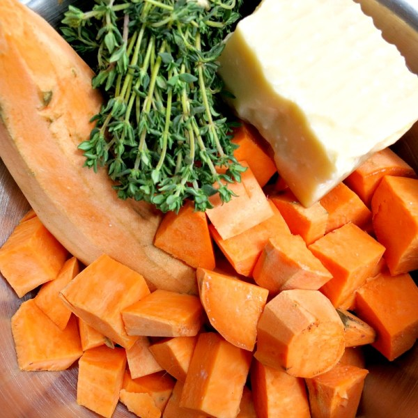 Parmesan Roasted Sweet Potatoes
