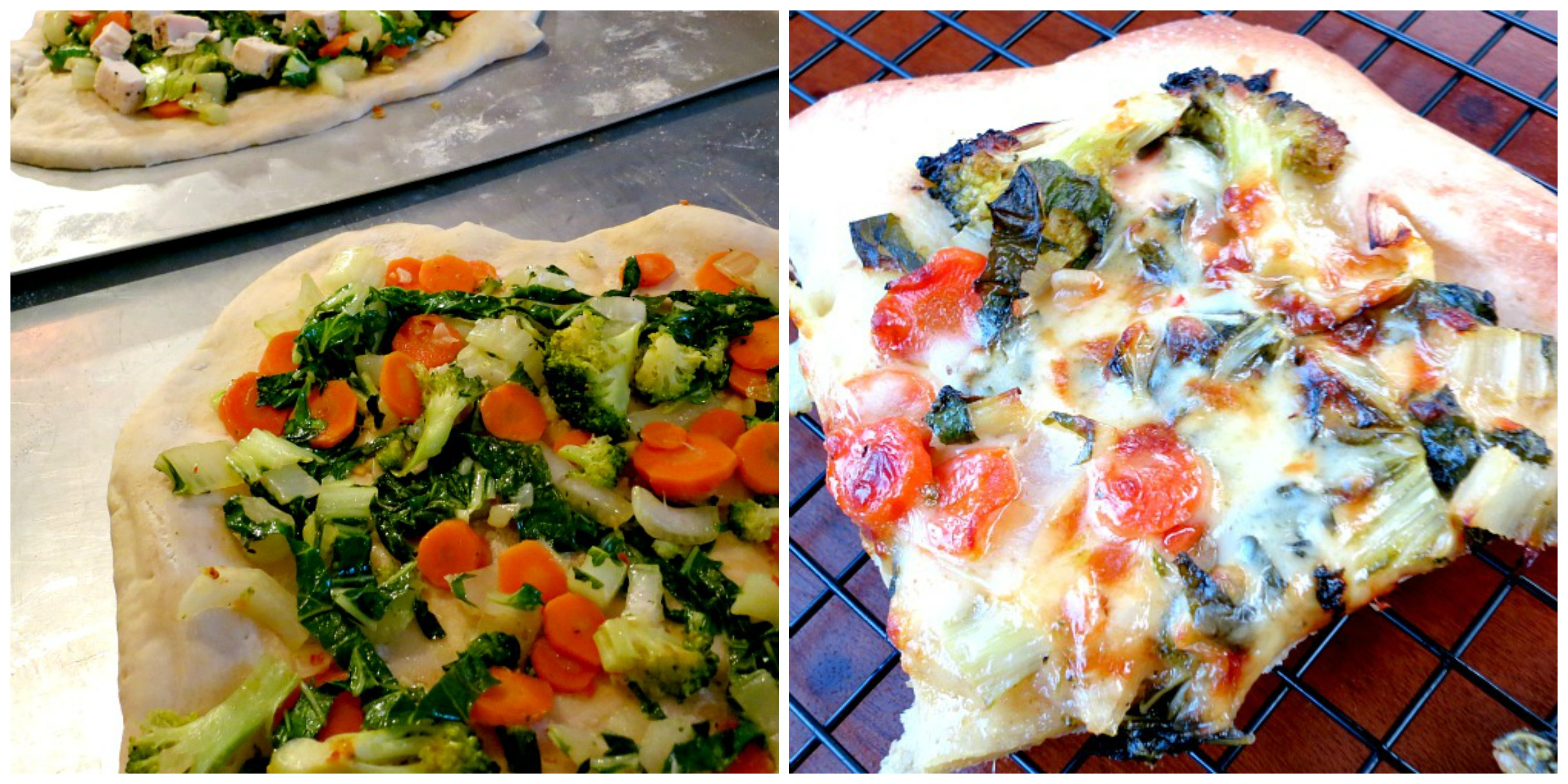Bok Choy Pizza Collage