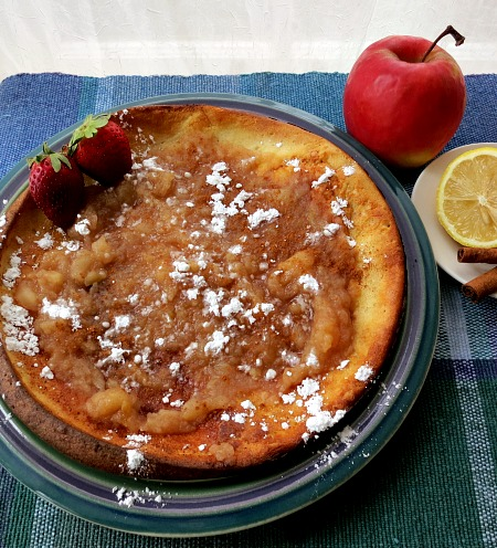 Dutch Boy Pancake with Applesauce