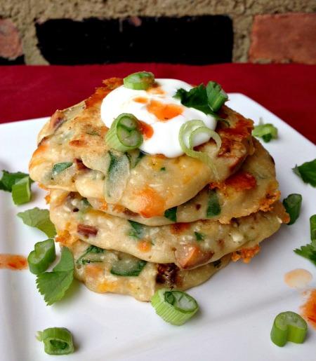 Sweet Potato Cheddar Pancake B
