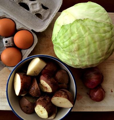 Breakfast Salad Ingredients