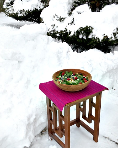 Food Photos in the Snow